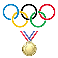 Olympic-rings-and-a-gold-medal